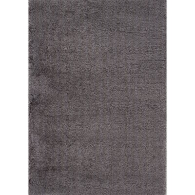 Bryana Solid Gray Area Rug Rug Size: Rectangle 2 x 3