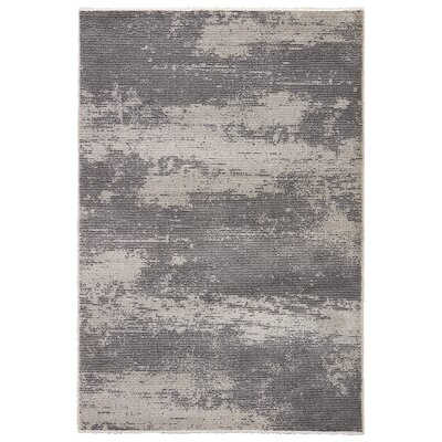 Brigette Charcoal Gray/Paloma Area Rug Rug Size: 53 x 76