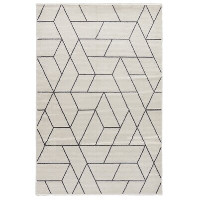 Lyme Marshmallow/Charcoal Gray Area Rug Rug Size: Rectangle 53 x 76