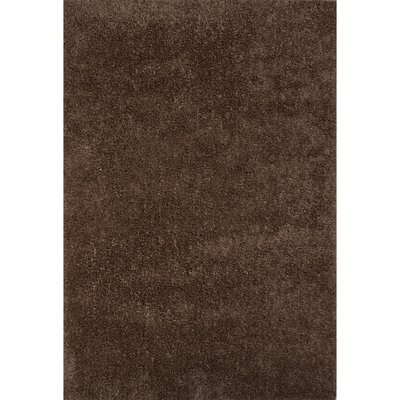 Brys Polyester Shag Tan Area Rug Rug Size: 5 x 76