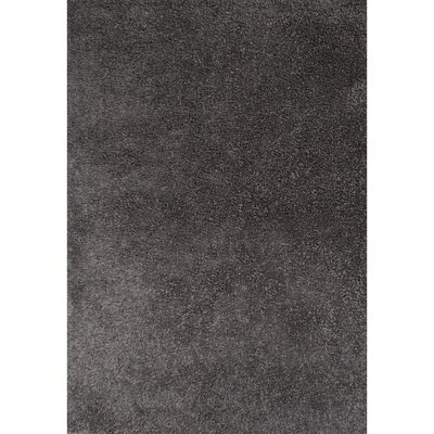 Brys Polyester Gray Shag Area Rug Rug Size: 76 x 96
