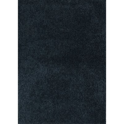 Brys Polyester Blue Shag Area Rug Rug Size: 76 x 96
