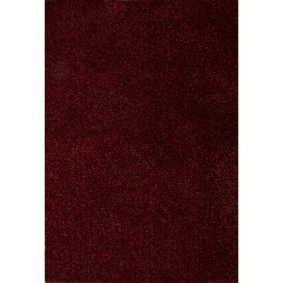 Brys Polyester Red Shag Area Rug Rug Size: 76 x 96