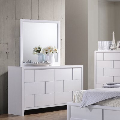 Langford 6 Drawer Dresser by Simmons Casegoods Color: White