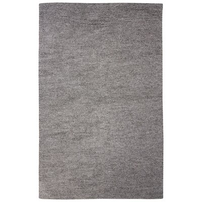 Brunelle Hand-Loomed Solid Gray Area Rug Rug Size: Rectangle 2 x 3