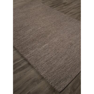 Brunelle Hand-Loomed Gray Area Rug Rug Size: Rectangle 8 x 10