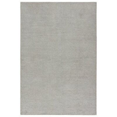 Brigitte Hand-Loomed Silver Area Rug Rug Size: 5 x 8