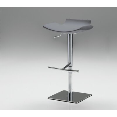 Arciniega Adjustable Height Bar Stool Upholstery: Grey