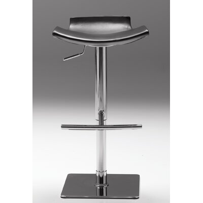 Arciniega Adjustable Height Bar Stool Upholstery: Black