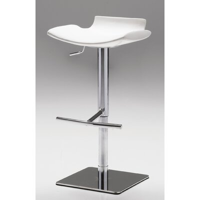 Sardinia Adjustable Height Bar Stool Upholstery: White