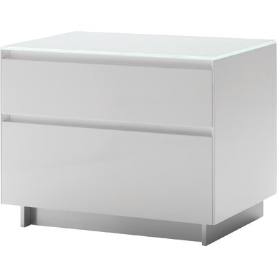 Bairdstown 2 Drawer Nightstand Color: White