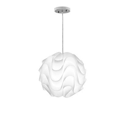 Alec 1-Light Globe Pendant Size: 16 H x 16 W x 16 D