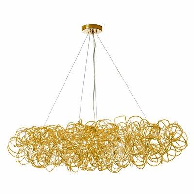 Kash 8-Light Cluster Pendant Finish: Gold