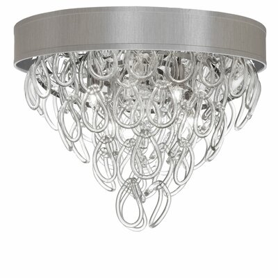 Puppis 4-Light Flush Mount Shade Color: Pebble