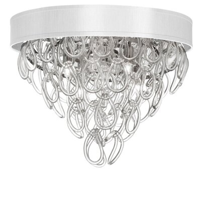Arian 4-Light Flush Mount Shade Color: White