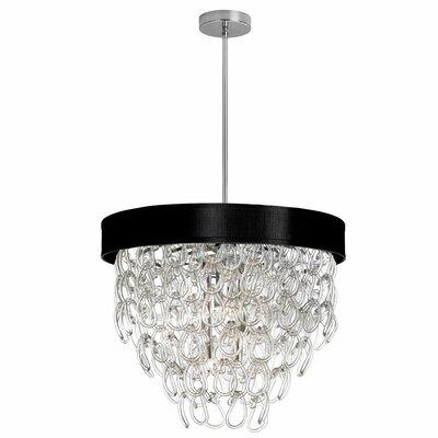 Arian 6-Light Crystal Chandelier Shade Color: Black