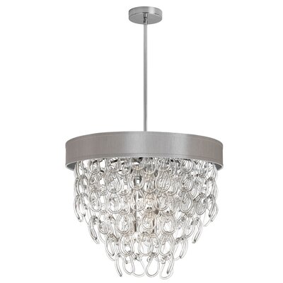 Puppis 6-Light Crystal Chandelier Shade Color: Pebble