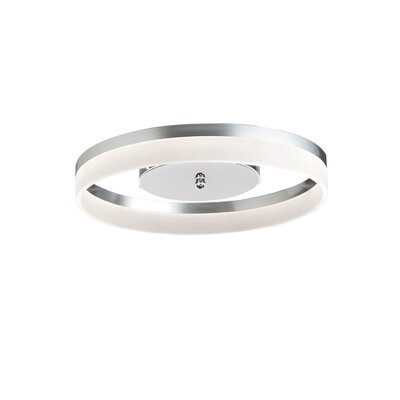 Crater 1-Light Flush Mount Finish: Silver/Polished Chrome