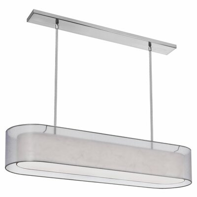 Dionysus 4-Light Adjustable Height Kitchen Island Pendant Shade Color: Silver, Finish: Satin Chrome