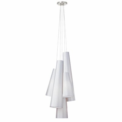 Dorado 5-Light Cluster Pendant Finish: White