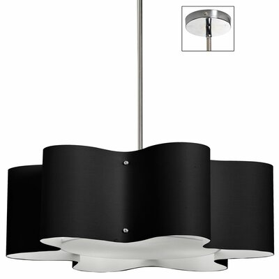 Margolis 3-Light Pendant Shade Color: Black, Size: 8.5 H x 24 W x 24 D