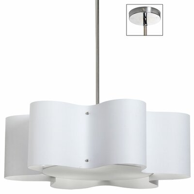 Margolis 3-Light Pendant Shade Color: White, Size: 8.5 H x 24 W x 24 D