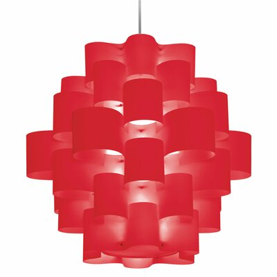 Microscopium 9-Light Pendant Shade Color: Red