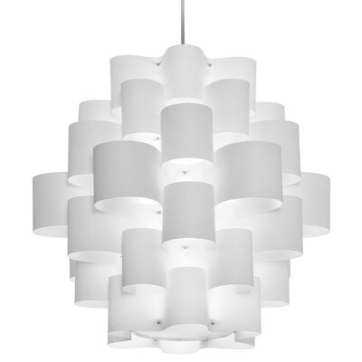 Microscopium 9-Light Pendant Shade Color: White