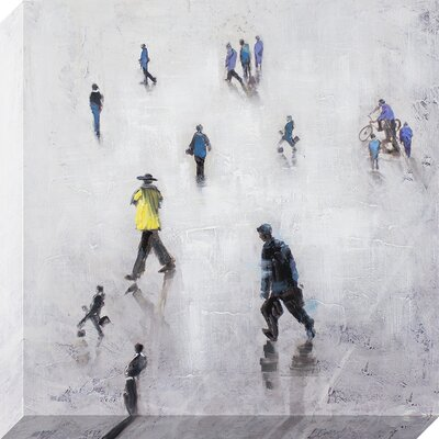 Figures in Action Painting on Wrapped Canvas WLGN5945 34719465