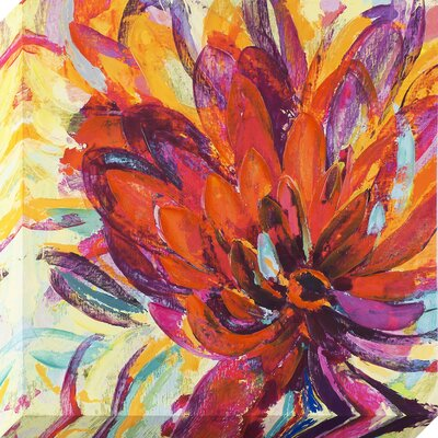 'Spectrum Flower' Painting on Wrapped Canvas