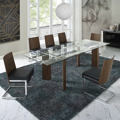 Bontrager 5 Piece Dining Set Upholstery Color: Black
