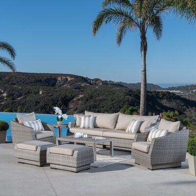 Alfonso 8 Piece Deep Seating Group With Cushion Fabric: Slate