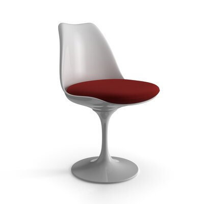 Bunche Side Chair Finish: White, Seat Finish: Red