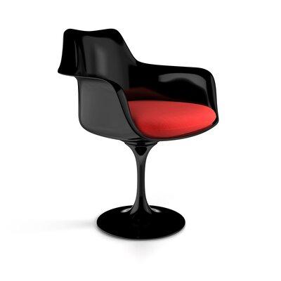 Ellen  Arm Chair Finish: Black