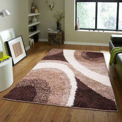 Brandt Gray/Brown Area Rug Rug Size: 78 x 104