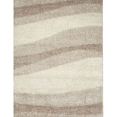 Olivia Layers Ivory / Brown Contemporary Rug Rug Size: 66 x 98