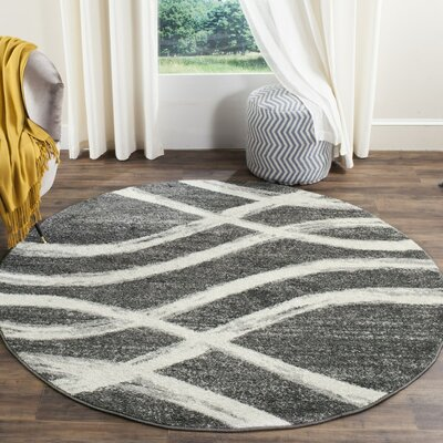 Graciano Ivory/Gray Area Rug Rug Size: 51 x 76