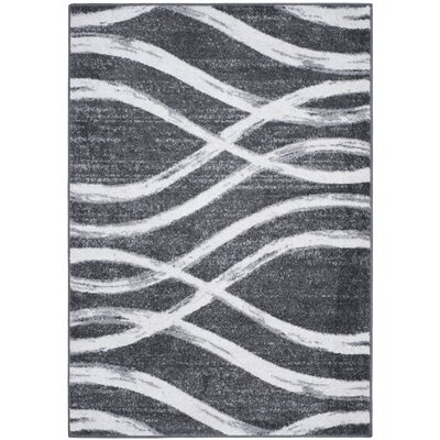 Graciano Ivory/Gray Area Rug Rug Size: 3 x 5