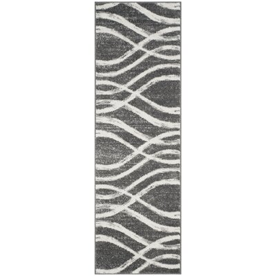 Graciano Ivory/Gray Area Rug Rug Size: Runner 26 x 12