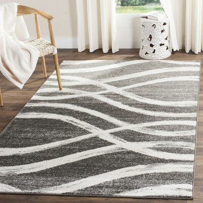 Graciano Ivory/Gray Area Rug Rug Size: Rectangle 4 x 6