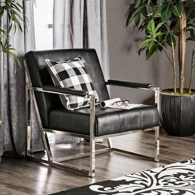 Ares Arm Chair Upholstery: Black