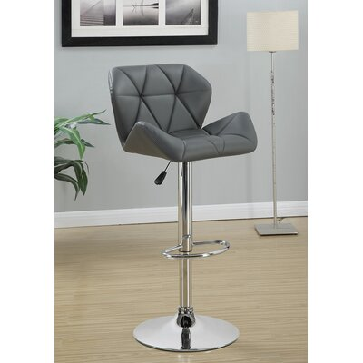 Bairnsdale Adjustable Height Swivel Bar Stool Upholstery: Gray