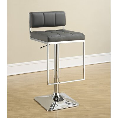 Braeden Adjustable Height Bar Stool Upholstery: Gray