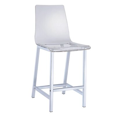 Willow-Spence 38.75 Bar Stool Upholstery: Clear