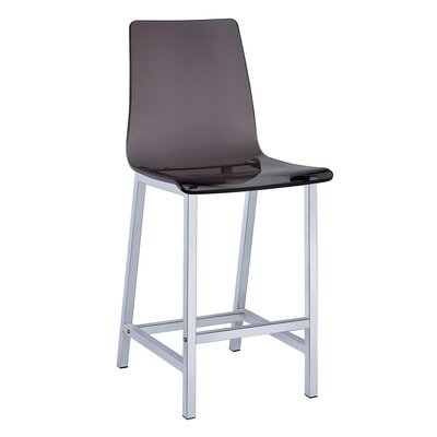 Willow-Spence 38.75 Bar Stool Upholstery: Smoke Acrylic