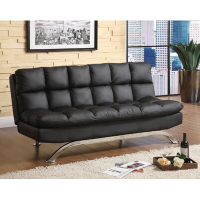 Syre Sleeper Sofa Upholstery: Black