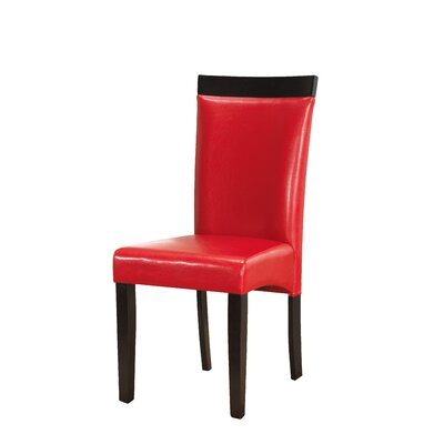 Braylon Upholstered Dining Chair (Set of 2) Upholstery Color: Red