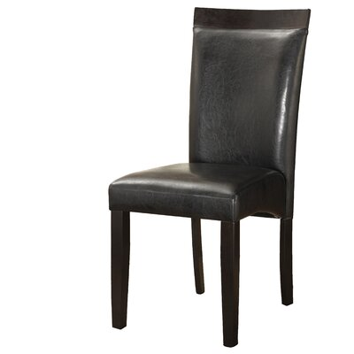 Braylon Upholstered Dining Chair (Set of 2) Upholstery Color: Black