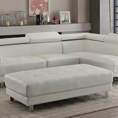 Blangkejeren Ottoman Upholstery Color: Bright White