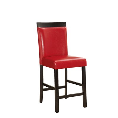 Shrutika 25 Bar Stool (Set of 2) Upholstery: Red